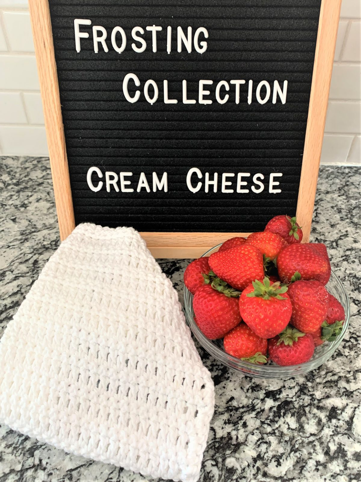 Free Crochet Dishcloth Pattern – Frosting Collection – Cream Cheese – Part 2