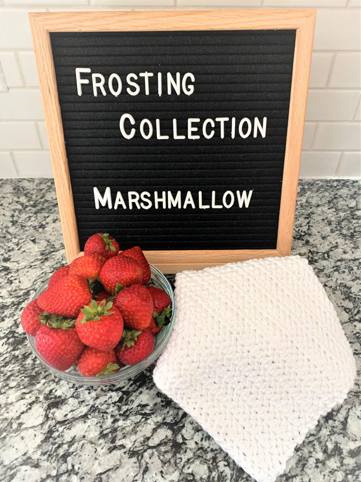 Free Crochet Dishcloth Pattern – Frosting Collection – Marshmallow – Part 3