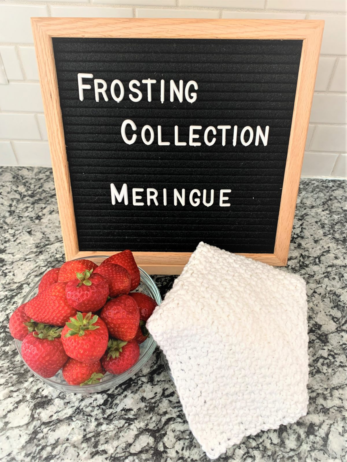 Free Crochet Dishcloth Pattern – Frosting Collection – Meringue – Part 4
